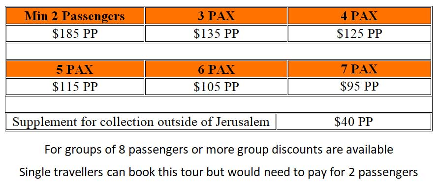 Bethlehem Tour Prices - One Day Bethlehem Tour