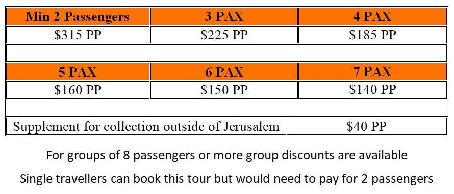 Masada Dead Sea Tour Prices - One Day Masada / Dead Sea Tour