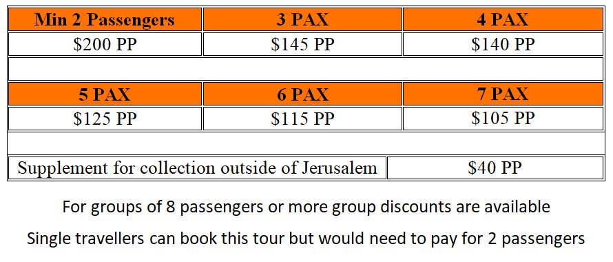 New Jerusalem Tour Prices - One Day New Jerusalem Tour