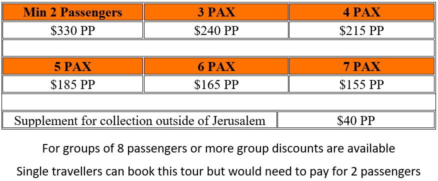 Masada Dead Sea Private One Day Tour Prices - One Day Masada / Dead Sea Tour